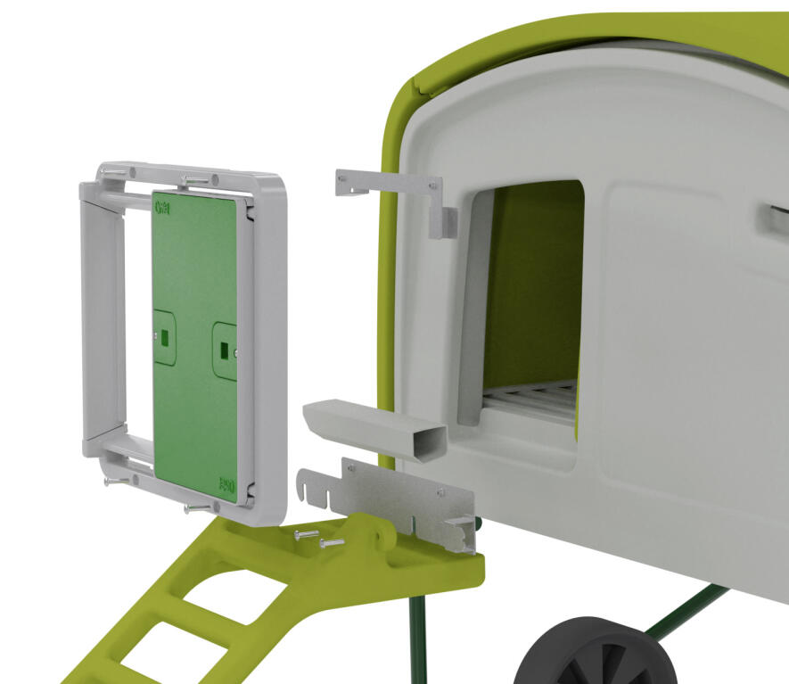 Kit de fixation porte automatique pour eglu cube version 1 pi ces et accessoires de la porte - Porte automatique pour chien ...
