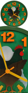 Clock - wooden chicken