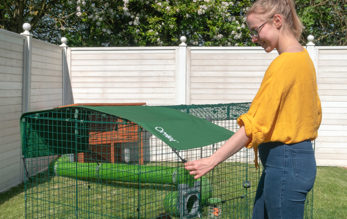 Zippi Run Covers provide shade and weather protection for your rabbit's enclosure all year round.