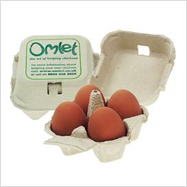 An Omlet 4 egg eggbox