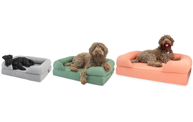 Bolster bed is Available in Three Sizes to Fit Any Dog