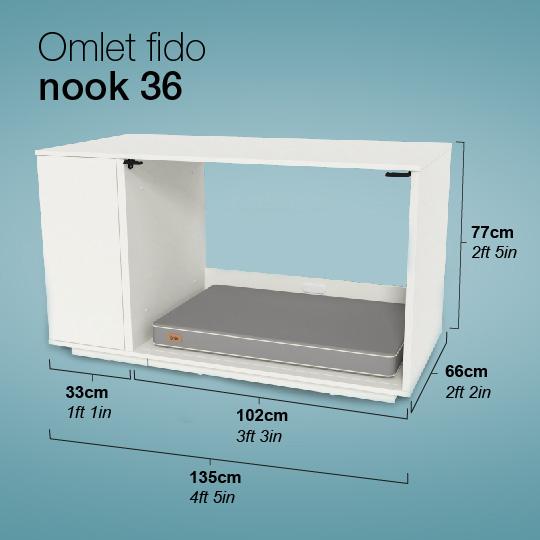 Dimensioni di Omlet Fido Nook