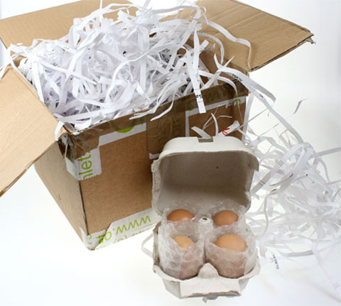 Some egg package for the post