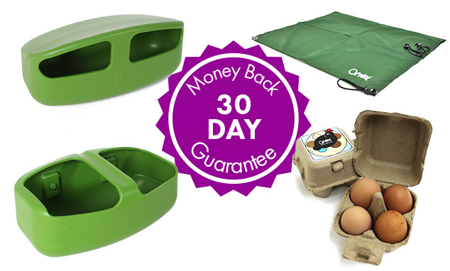 Feeder, Drinker, All Weather Shade, Omlet egg boxes, 30 day money back guarantee.