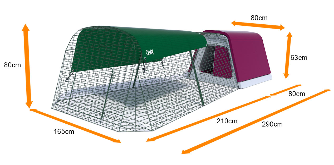 Las medidas de la conejera Eglu Go y del corral para conejos