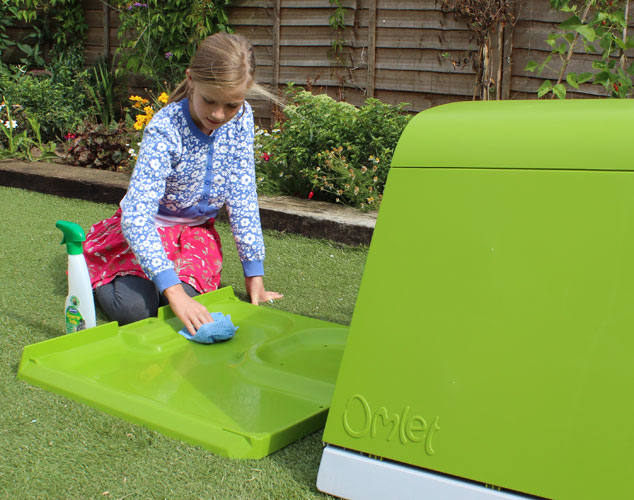 The Eglu Go Hutch is easy to clean thanks to it's accessible design.