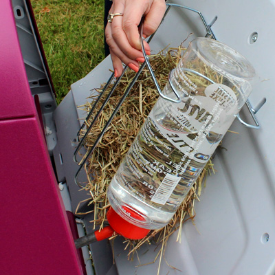 Hay Rack and Water Bottle
