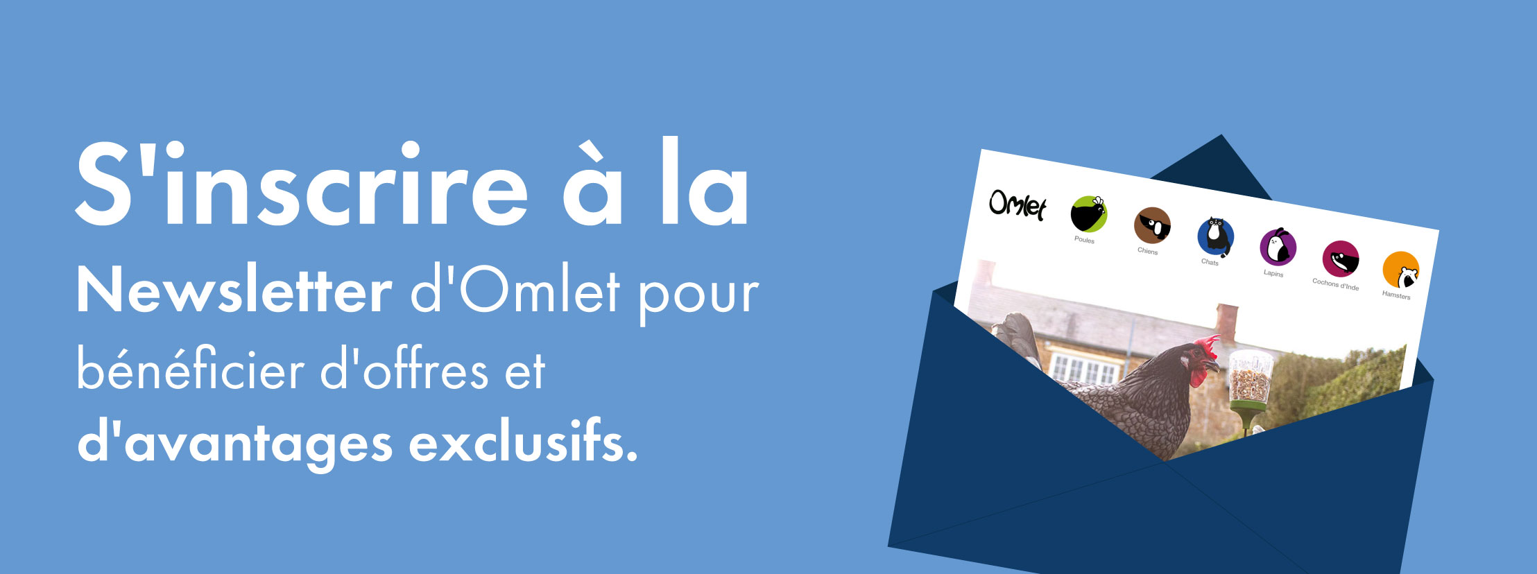 S'incrire à la newsletter d'Omlet