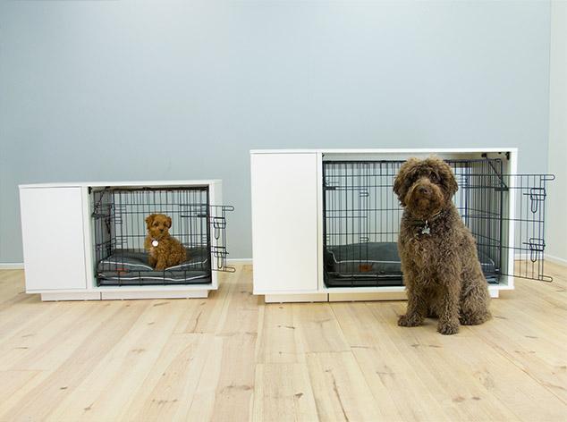 Elegancki projekt Fido Nook sprawi, że będzie ono pasować do Twojego domu i jednocześnie stanowić dom dla Twojego psiaka