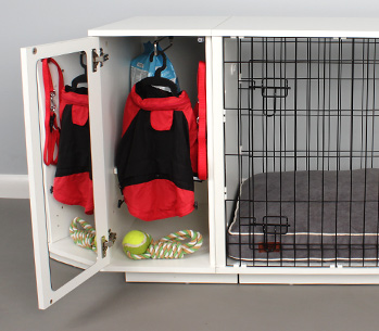 The Omlet Fido Studio Wardrobe keeps your dogs things tidy