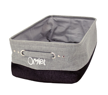 The Maya Nook storage basket keeps your cats toys nice and tidy