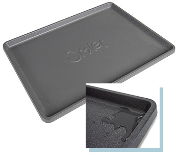 The Maya Nook tray is waterproof and catches accidental spillages