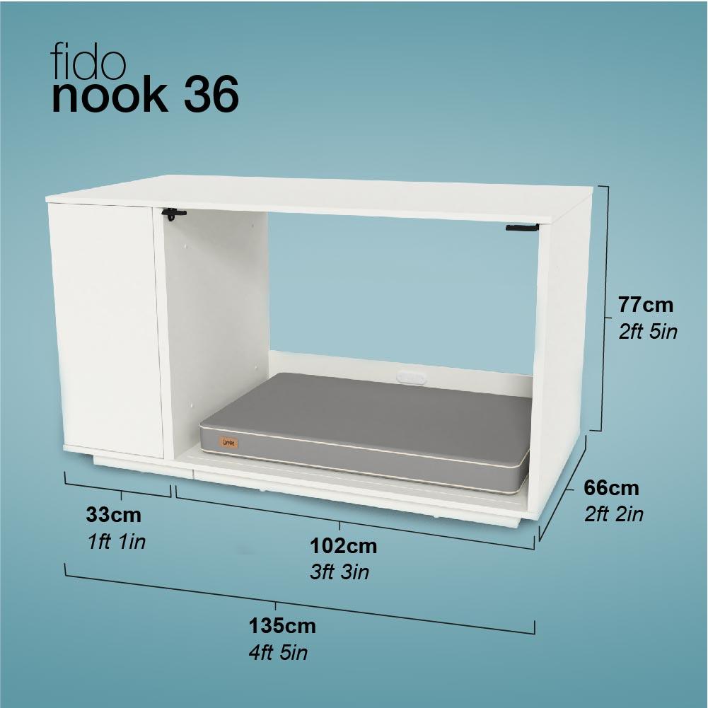 Fido Nook dimensions