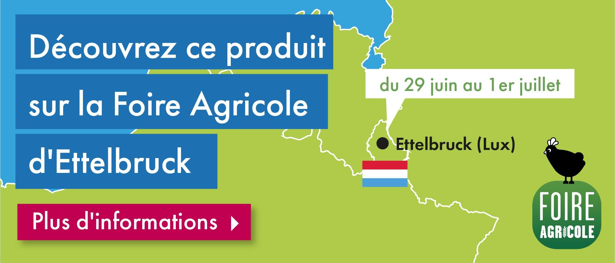 Rencontrez Omlet sur la Foire agricole d'Ettelbruck (Luxembourg) les 29, 30 Juin & 1 Juillet