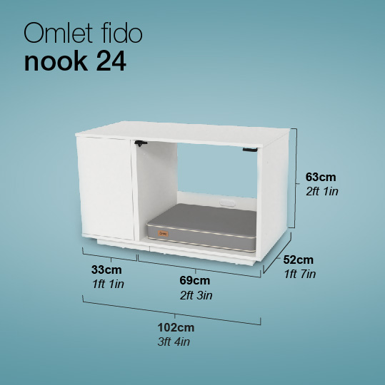 niche-Omlet-Fido-Nook-24-Dimensions