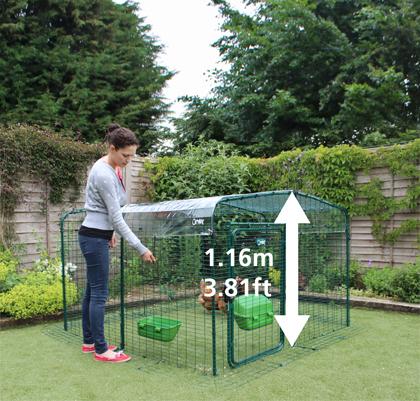 1,15m Version der Hühnervoliere