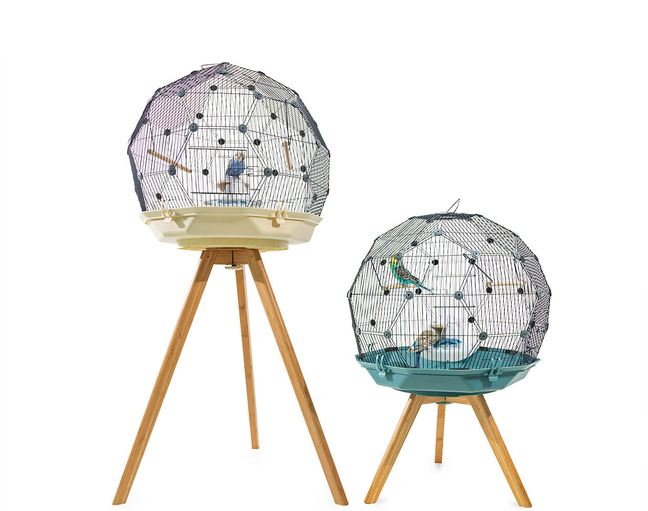 Geo Bird Cage with stands