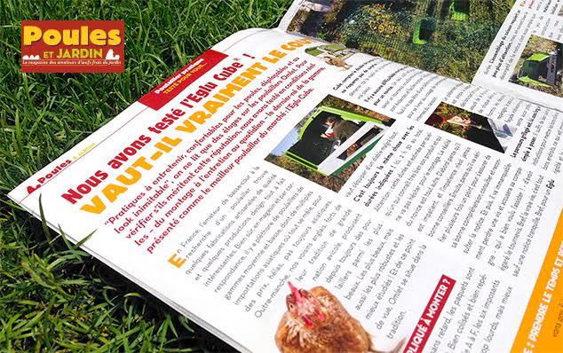 Poules & jardins article eglu cube omlet