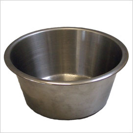 Rabbit Eglu stainless steel food bowl.