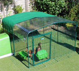 Omlet Catio Outdoor Cat Enclosure with clear and green roof covers