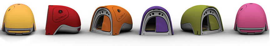 The Eglu Classic Chicken Coop comes in a choice of six bright colours