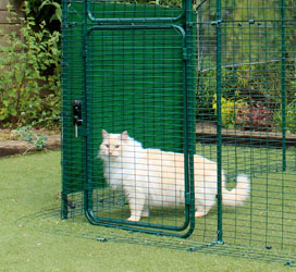 Omlet walk in chicken run with heavy duty side cover.