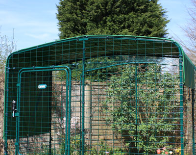 The Outdoor Rabbit Run with a heavy duty roof cover
