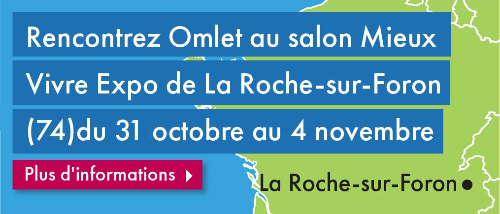 Découvrez les produits Omlet sur le Salon Mieux Vivre de La Roche-sur-Foron