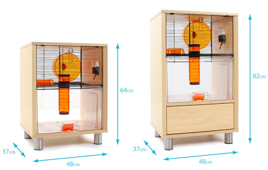 cage-qute-omlet-avec-rangement-dimensions