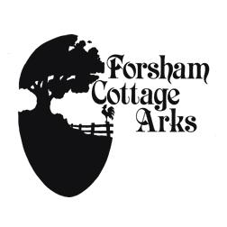 The black and white Forsham Cottage Arks logo
