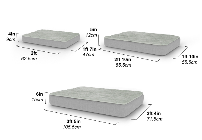 All dog breeds will love the Topology dog bed, just choose the right size for your pet.