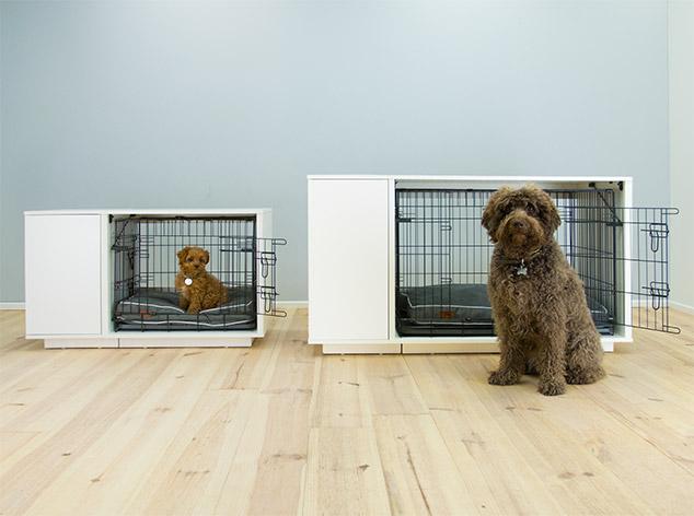 niche interieur blanche pour chien