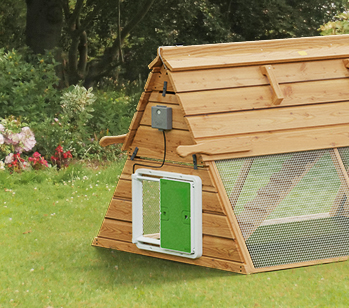 The Autodoor is compatible with all kinds of wooden chicken coop